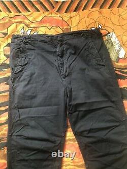 Black Maharishi Trousers With Elemental Fire Dragon Embroidery New With Tags XL