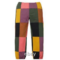 Brand New Ss17 Supreme Patchwork Sweatpant Pants Black L Large
