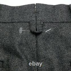 Brooks Brothers BLACK FLEECE THOM BROWNE Btn Fly Gray Wool Pants Slacks 30 BB0