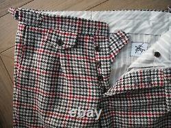Brooks Brothers BLACK FLEECE THOM BROWNE Plaid Wool Pants 32x32 BB1 made in USA