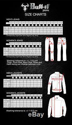 Bull-IT SR6 Mens Motorcycle Pants Oil Skin Covec Aramid Jeans Black +Free Armour