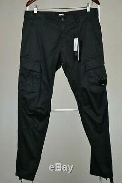 C. P. Company Garment Dyed lens pocket cargo pants black sz 54