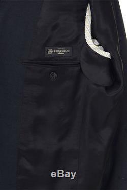 CORNELIANI New Men Black Virgin Wool Suit Single Breasted Blazer Trousers