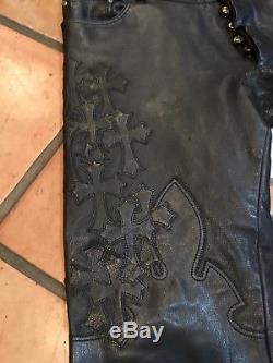 Chrome Hearts Leather Mens Pants
