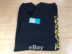 Chrome Hearts Old English Side Logo Sweatpants Black Yellow Graphic Men L New