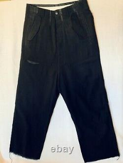Classic Rick Owens Black Wool Crepe Trousers, GLEAM A/W 2010 Collection