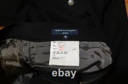 Comme Des Garcons Homme Black Wool Pants With Zipper Pockets AD2005