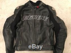 DAINESE LAGUNA SECA CODICE 2 Piece MOTORCYCLE Leathers JACKET + TROUSERS Size 52