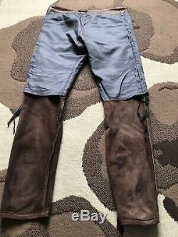DIESEL BLACK GOLD Lamb Leather Jeans Trousers Pants 33