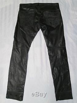 DIESEL Mens P-THAVAR-DEST PANTALONI Leather Trousers 00SDTY-0LAFP-900 Size 32x32