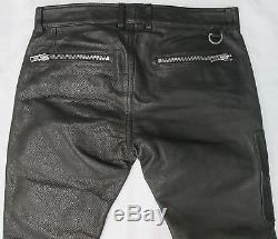 DIESEL Mens P-ZIPPS PANTALONI Black Leather Trousers 00SC5T-0PADA-900