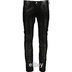 DIESEL Thavar Lambskin Leather Trousers Jeans, Size 30 RRP 750 Slim Fit