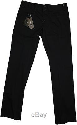 Dolce & Gabbana Men's Black Cotton Pants-54/38us-made In Italy