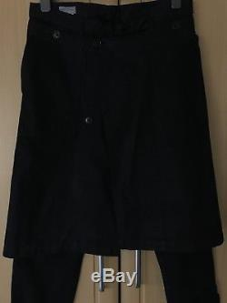 DRIES VAN NOTEN Cotton Black Kilt Attached Chinos Size 48 = W32