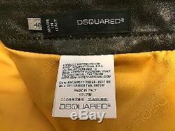 Dsquared 2011 Collectors Item Sexy Horse Leather Biker Pants Vintage Black 48/32