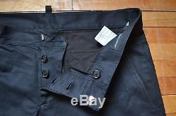 DSQUARED² AMAZING RUNWAY BLACK SLIM FIT CLASSIC DRESS PANTS 46 30 CASUAL EDGY