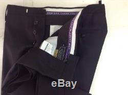 DSQUARED2'Beverly Hills' Classic Cut Black Wool Blend Formal Tuxedo Pants 34