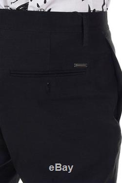 DSQUARED2 Dsquared² Men black virgin wool silk Pants Made in Italy