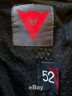 Dainese Black Leather Trousers Motorcycle Motorbike Biker Men Size UK 34 EUR 52