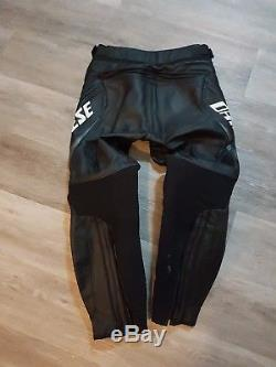 Dainese Delta Pro C2 Mens Leather Motorcycle Trousers Black Size 40UK/50EU