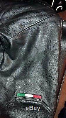 Dainese Ducati Leather Armored Pants with 360 zipper 50 EU