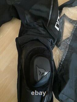 Dainese Misano Black Anthracite Men's Motorcycle Pants Leather Sport Racing 48EU