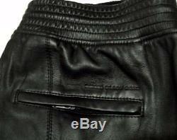 Diesel Black Gold Black Napper Leather trousers Pants IT50 34/35 New