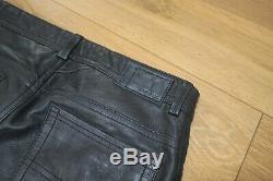 Diesel Lamb skin soft jeans style leather trouser size 30