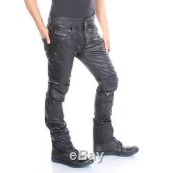 24d49e6b Diesel Leather Pants P-thavar-dest Black Men New