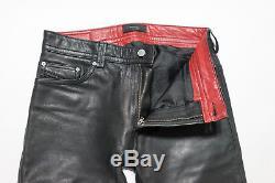 Diesel Leather Trousers Jeans P-Thavar-L Men's Black Lambskin size 28 x 30 $550