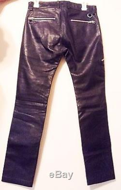 Diesel P-ZIPP Leather Trousers Men's 27 Waist New With Tags Orig. $648.00