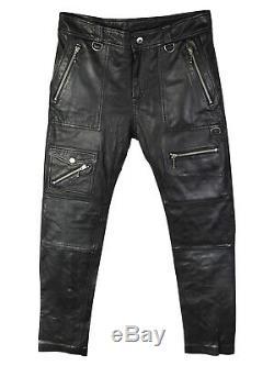 Diesel Soft Leather Biker Skinny Trousers