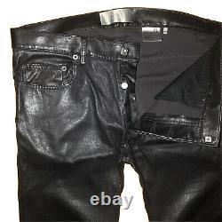 Dior Homme Leather-Lambskin Pants. Hedi Slimane EraRunway S/S 07 Collection