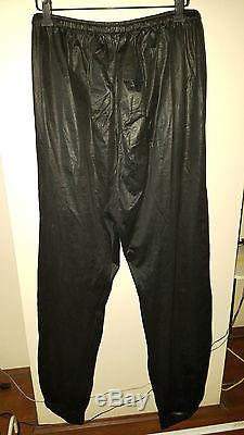 Dior Homme by Hedi Slimane See Through Coated Lounge Pants Size L 50 Black