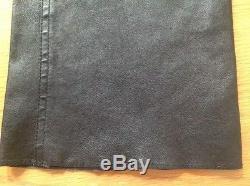 Dolce & Gabbana Men's Black Leather Jeans / Pants Size IT 48
