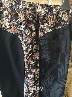 Dries Van Noten Runway Parris 6068 Black Cotton Blend Pants Fr 50