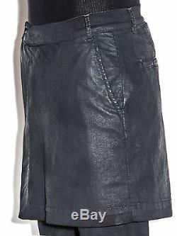 Drkshdw By Rick Owens Kilted Detroit Coated Jeans Black Scrub