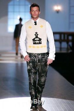 Dsquared leather pants lederhosen trouser pantaloni pelle langlitz