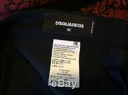 Dsquared2 Mens Biker Pants With Exposed Zipper