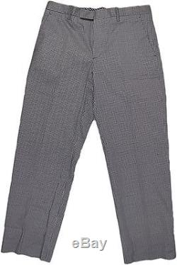 Etro Men's Black Pattern Cotton Pants-50/34us-made In Italy