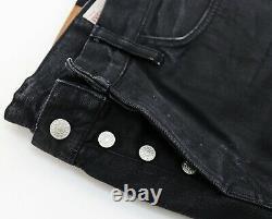 EVISU No3 Mens Selvedge Denim Jeans Trousers size 34x34 slim Black Classic Gulls