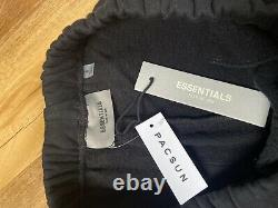 FEAR OF GOD ESSENTIALS FOG LOGO Printed Oversized Sweatpants Joggers Black Small