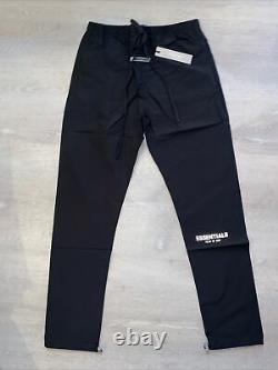 FOG Fear of God Essentials Black Track Pant Mens Size Medium (FW20) New