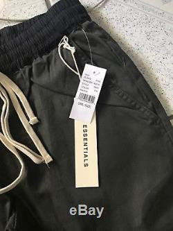 FOG Fear of God Pacsun Essentials Drawstring Trouser Pant Raven Size Small