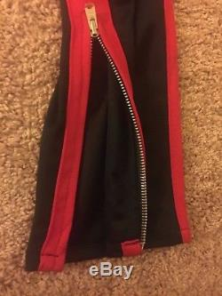 Fear of God FOG Track Pants Collection 5th Sz XL Black Red Joggers Trousers