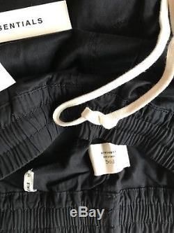Fear of God Fog Pacsun Essentials Trouser Drawstring Pants Black MEDIUM -IN HAND