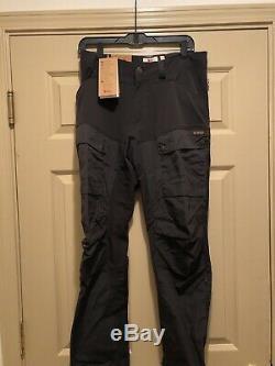 Fjallraven Men's Keb Trousers Regular Black Eur 46 (30-31) NWT New