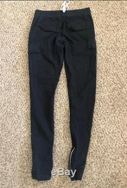 Fog Fear Of God Mens Collection Two Drawstring Black Cargo Pants Size Small