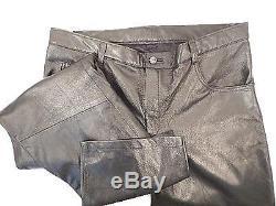G Gator Baby Lamb Skin Leather Pants