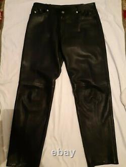 GIANNI VERSACE vintage leather pants men's